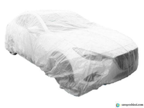 不織布自動車養生カバー使用画像
