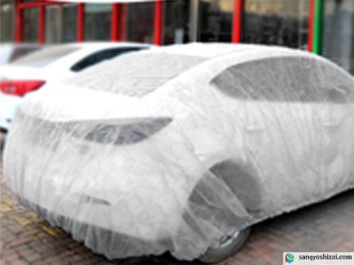 不織布自動車養生カバー使用画像1