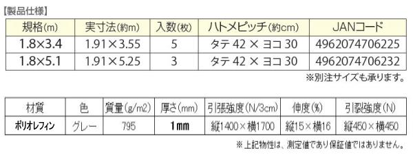 PO防音シート仕様物性値